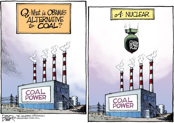 Clean energy cartoon